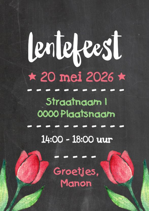 uitnodiging lentefeest
