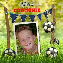 voetbal communie uitnodiging